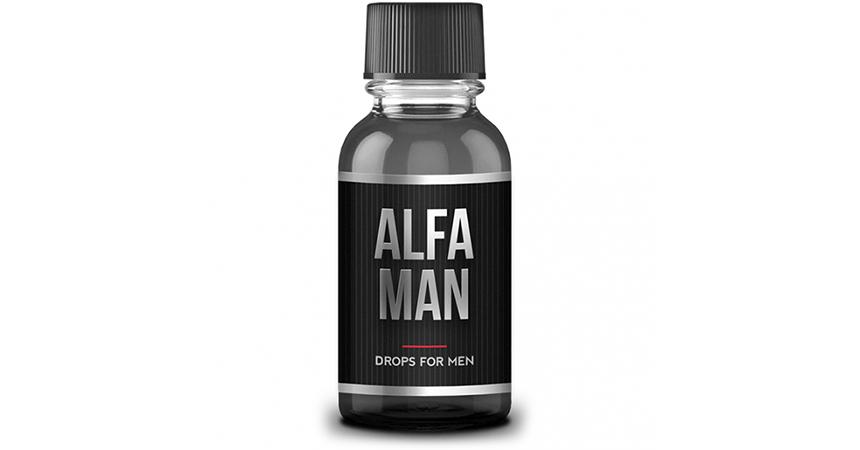 Пузырек с каплями для потенции Alfa Man