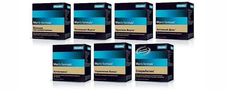 Продукты компании Man's Formula