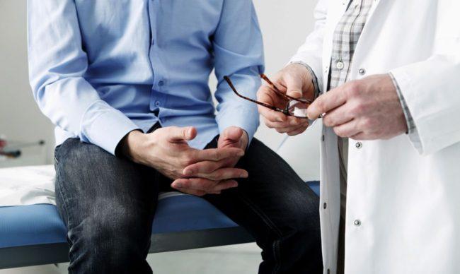 Берут на пробу частичку предстательной железы, чтобы исследовать её в лаборатории и поставить пациенту конкретный диагноз